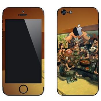 Виниловая наклейка «One Piece - трапеза» на телефон Apple iPhone 5