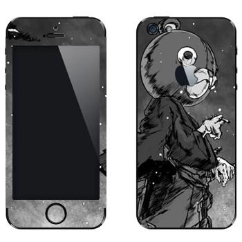 Виниловая наклейка «Афросамурай голова медведя» на телефон Apple iPhone 5