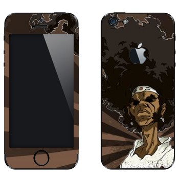 Виниловая наклейка «Афросамурай полупрофиль» на телефон Apple iPhone 5