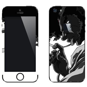 Виниловая наклейка «Афросамурай профиль» на телефон Apple iPhone 5