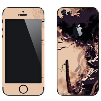 Виниловая наклейка «Афросамурай» на телефон Apple iPhone 5
