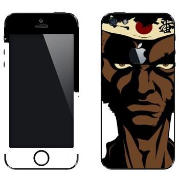 Виниловая наклейка «Чернокожий самурай - Afro Samurai» на телефон Apple iPhone 5