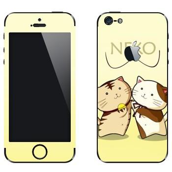 Виниловая наклейка «Два Neko» на телефон Apple iPhone 5