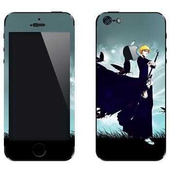 Виниловая наклейка «Ичиго Куросаки» на телефон Apple iPhone 5