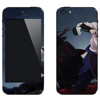 Виниловая наклейка «Итачи и Саске - Наруто» на телефон Apple iPhone 5