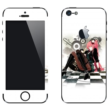 Виниловая наклейка «Мэгурине Лука (Megurine Luka)» на телефон Apple iPhone 5