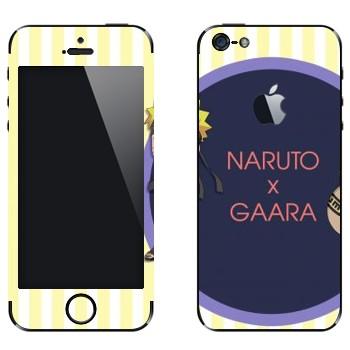 Виниловая наклейка «Наруто и Гаара» на телефон Apple iPhone 5