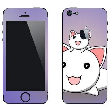 Виниловая наклейка «Неконяши» на телефон Apple iPhone 5