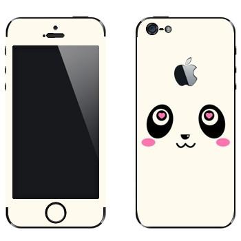 Виниловая наклейка «Панда Kawaii» на телефон Apple iPhone 5
