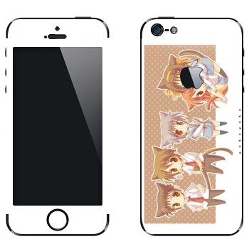 Виниловая наклейка «Персонажи Меланхолия Харухи Судзумии» на телефон Apple iPhone 5