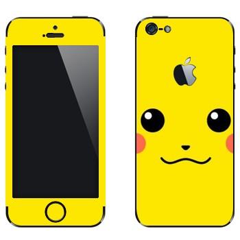 Виниловая наклейка «Пикачу - покемон» на телефон Apple iPhone 5