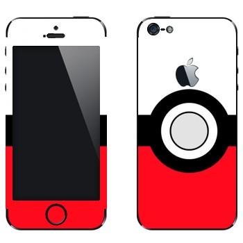 Виниловая наклейка «Покебол» на телефон Apple iPhone 5