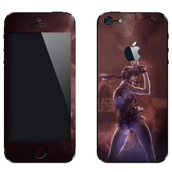 Виниловая наклейка «Реви - Пираты «Чёрной лагуны»» на телефон Apple iPhone 5