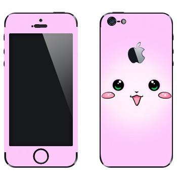 Виниловая наклейка «Розовый кролик - Kawaii» на телефон Apple iPhone 5