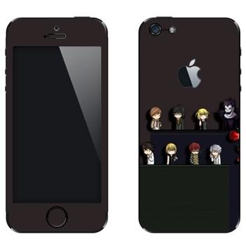 Виниловая наклейка «Тетрадь смерти» на телефон Apple iPhone 5