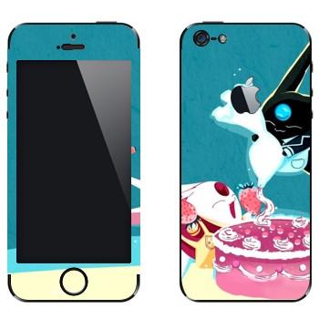 Виниловая наклейка «Торт Моконы» на телефон Apple iPhone 5