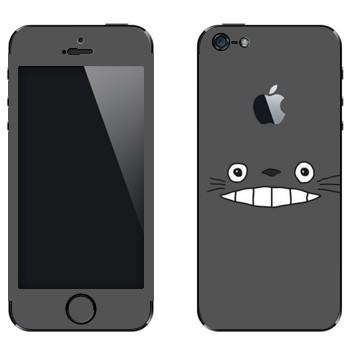Виниловая наклейка «Тоторо серый» на телефон Apple iPhone 5
