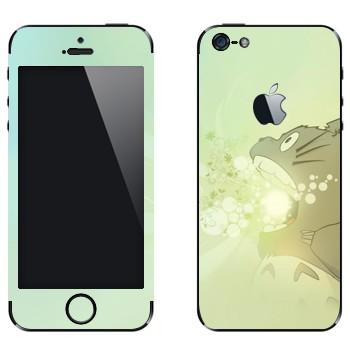 Виниловая наклейка «Тоторо злой» на телефон Apple iPhone 5