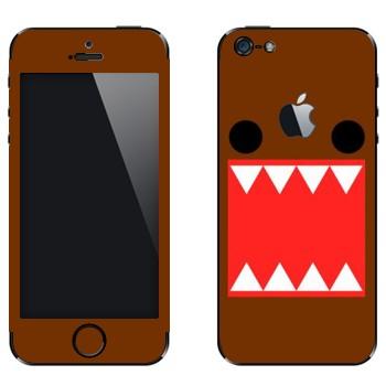 Виниловая наклейка «Зубастый - Kawaii» на телефон Apple iPhone 5
