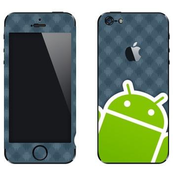 Виниловая наклейка «Android логотип» на телефон Apple iPhone 5
