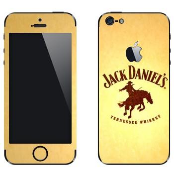 Виниловая наклейка «Jack daniels Родео» на телефон Apple iPhone 5