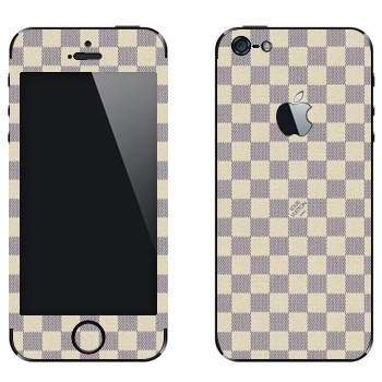 Виниловая наклейка «LV Damier Azur белый» на телефон Apple iPhone 5