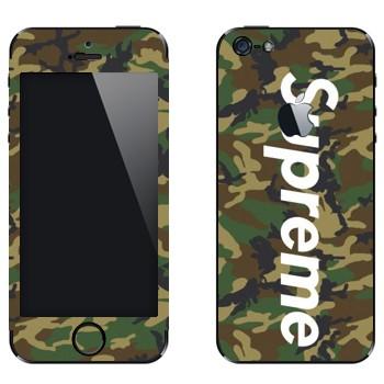 Виниловая наклейка «Supreme камуфляж» на телефон Apple iPhone 5
