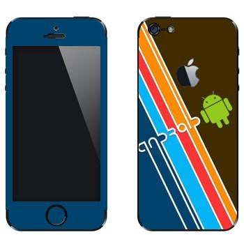 Виниловая наклейка «Андроид» на телефон Apple iPhone 5
