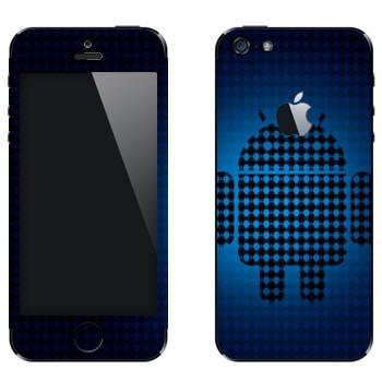 Виниловая наклейка «Эмблема Android из маленьких андроидов» на телефон Apple iPhone 5