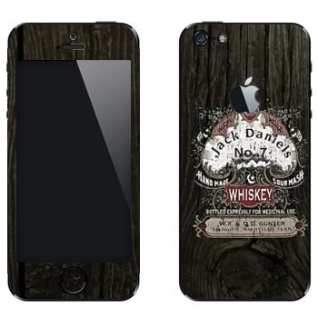 Виниловая наклейка «Эмблема Jack Daniels на дубовой бочке» на телефон Apple iPhone 5