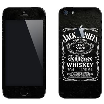 Виниловая наклейка «Jack Daniels» на телефон Apple iPhone 5