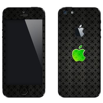 Виниловая наклейка «Лого Apple зеленое стекло» на телефон Apple iPhone 5