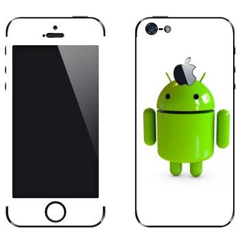 Виниловая наклейка «Логотип Android в 3D» на телефон Apple iPhone 5