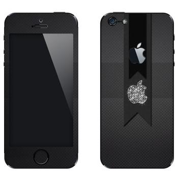 Виниловая наклейка «Логотип Apple алмазный» на телефон Apple iPhone 5