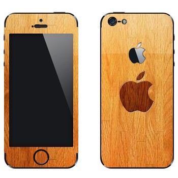 Виниловая наклейка «Логотип Apple на паркете» на телефон Apple iPhone 5