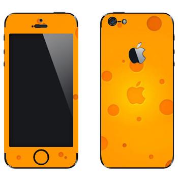 Виниловая наклейка «Логотип Apple сырный» на телефон Apple iPhone 5
