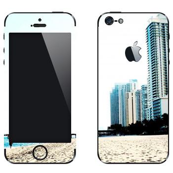 Виниловая наклейка «Белоснежный пляж Майами» на телефон Apple iPhone 5