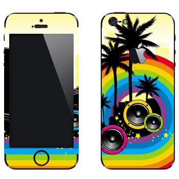 Виниловая наклейка «Музыкальный Майами» на телефон Apple iPhone 5