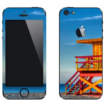 Виниловая наклейка «Пост спасателя на пляже Майами» на телефон Apple iPhone 5