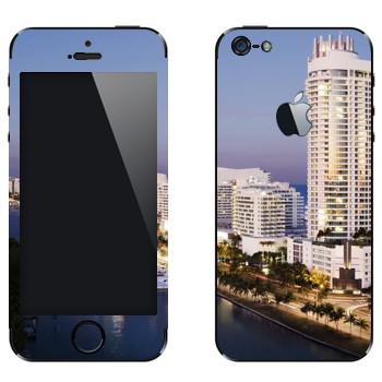 Виниловая наклейка «Вид на Майами» на телефон Apple iPhone 5