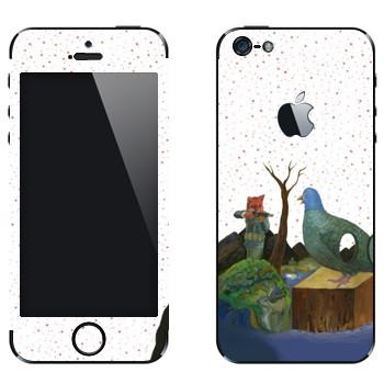 Виниловая наклейка «Kisung Story» на телефон Apple iPhone 5