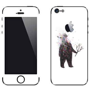 Виниловая наклейка «Kisung Treeman» на телефон Apple iPhone 5