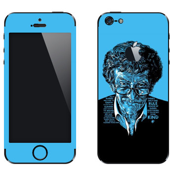 Виниловая наклейка «Kurt Vonnegut : Got to be kind» на телефон Apple iPhone 5