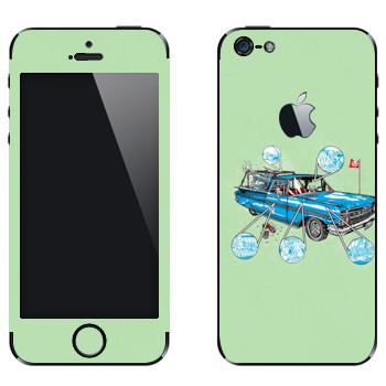 Виниловая наклейка «Sea Also Rises - Camino Cats - by Doyle» на телефон Apple iPhone 5