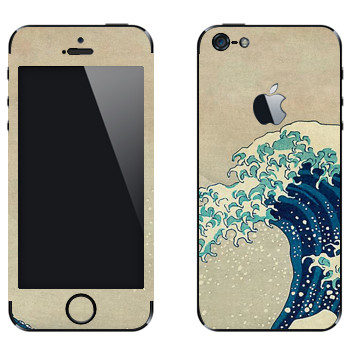 Виниловая наклейка «The Great Wave off Kanagawa - by Hokusai» на телефон Apple iPhone 5