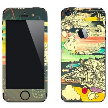 Виниловая наклейка «Абстрактное мышление» на телефон Apple iPhone 5