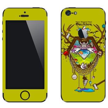 Виниловая наклейка «Алмазы Oblivion» на телефон Apple iPhone 5