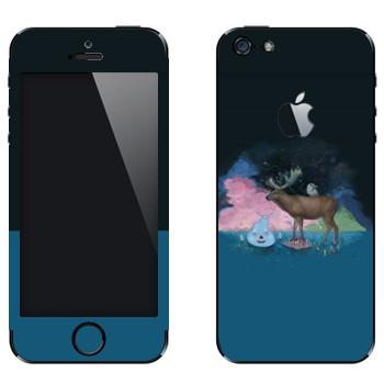 Виниловая наклейка «Американский лось от Kisung» на телефон Apple iPhone 5