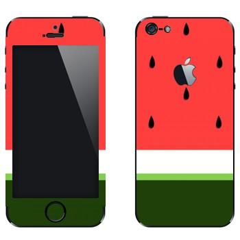 Виниловая наклейка «Арбуз в разрезе» на телефон Apple iPhone 5