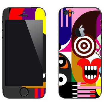 Виниловая наклейка «Арт» на телефон Apple iPhone 5